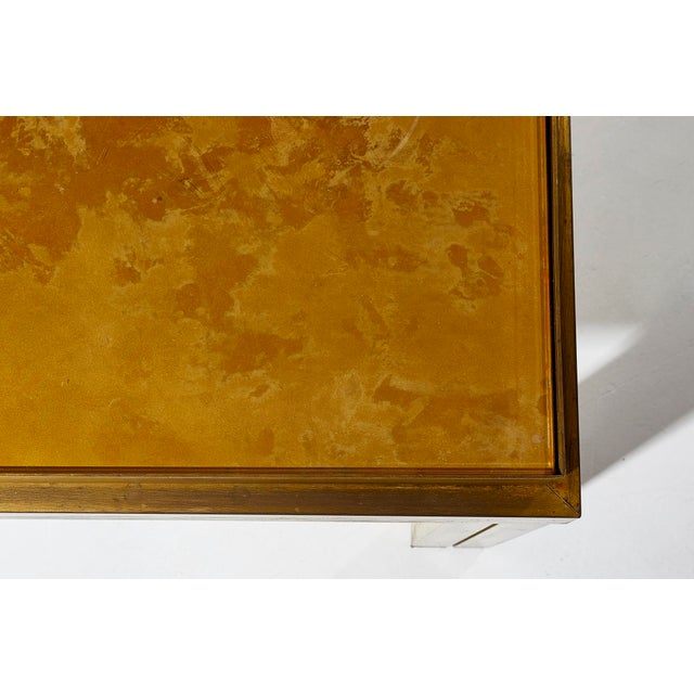 1970s Maison Jansen Brass Lacquered Coffee Table For Sale - Image 5 of 6