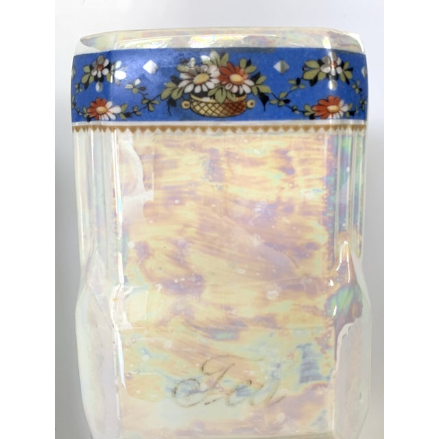 Early 20th Century Art Nouveau Victoria Czech Slovakia Luster Ware Canisters Jars Iridescent Set For Sale - Image 5 of 13