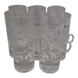 "Vintage ""Lenox"" Crystal Irish Coffee Mugs S/8 For Sale"
