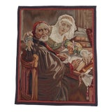 "Image of 19th C. French Tapestry of ""The Forbidden Book"" Painting For Sale"