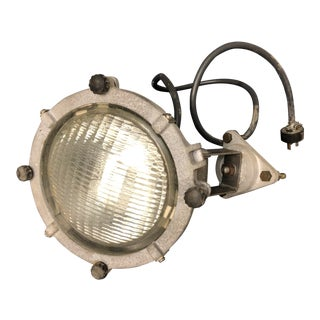Vintage Industrial Aluminum Spot Light by Carlisle & Finch For Sale