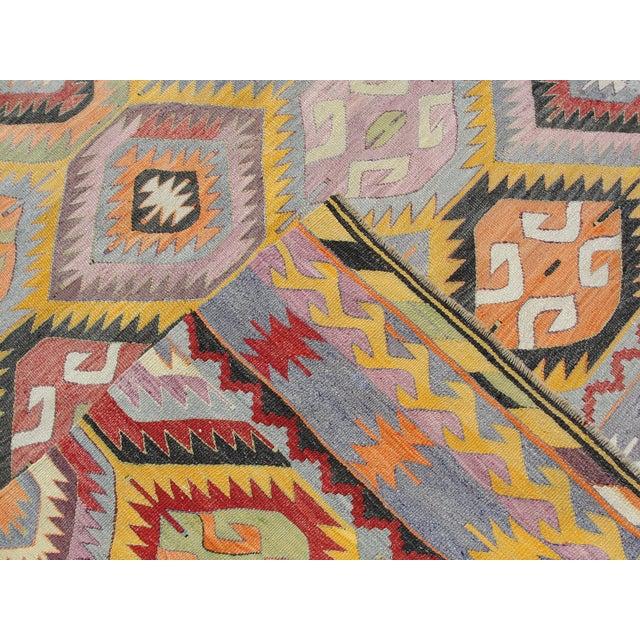 Vintage Turkish Kilim Rug - 5′2″ × 7′7″ For Sale - Image 11 of 11