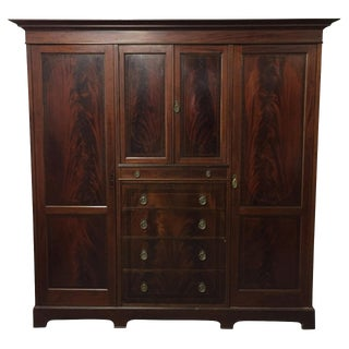 English Mahogany Wardrobe C.1890 For Sale