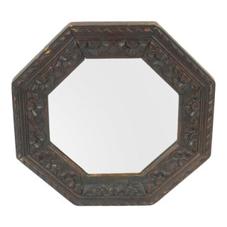 Antique English Octagonal Wall Mirror For Sale