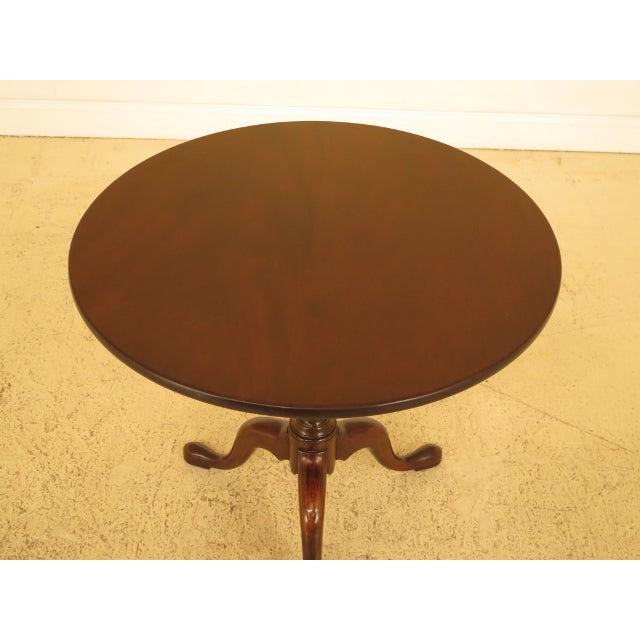 Kittinger Kittinger Historic Newport Hn-6 Mahogany Tilt Top Table For Sale - Image 4 of 11