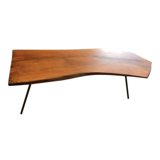 Mid-Century Modern Sycamore Coffee Table For Sale