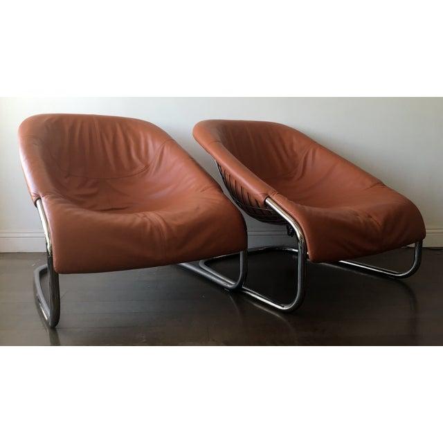 Orange Orange Minotti Chairs - a Pair For Sale - Image 8 of 8