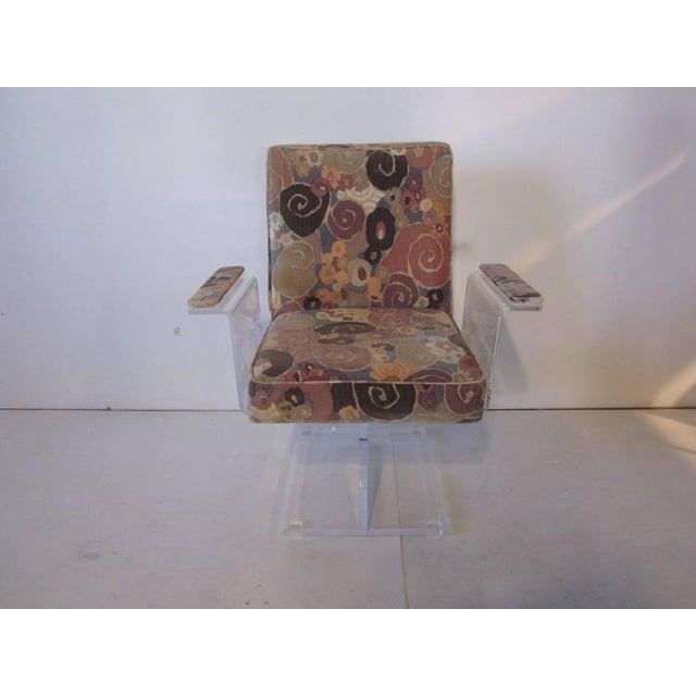 Vladimir Kagan Pedestal Armchairs With Larsen Fabric - a pair For Sale In Cincinnati - Image 6 of 7
