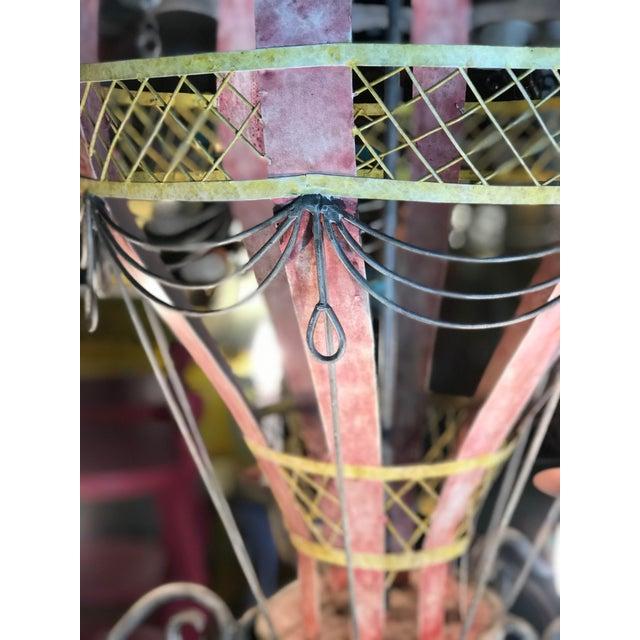 Blue Coastal Regency Hot Air Balloon Chandelier For Sale - Image 8 of 12