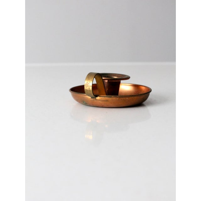 Vintage Coppercraft Guild Copper Chamberstick For Sale - Image 6 of 8