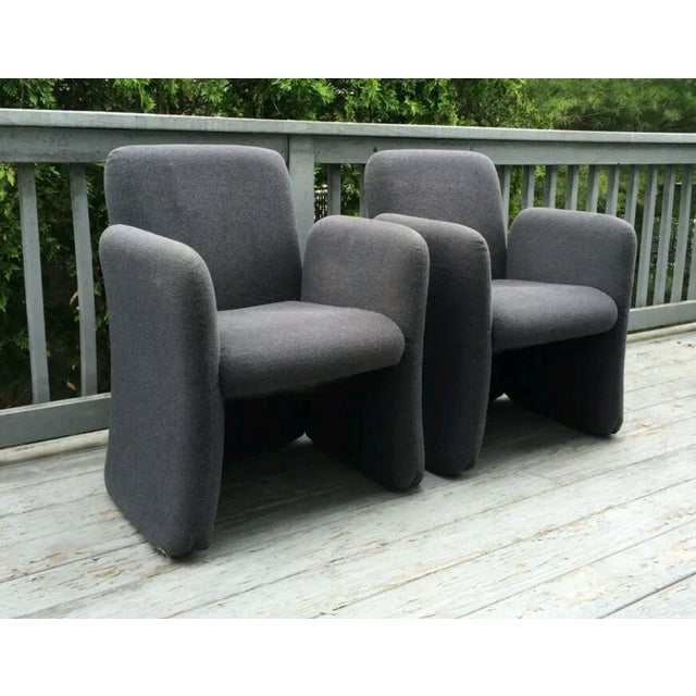 Mid-Century Bellini Style Chicklet Chairs - Pair - Image 2 of 7