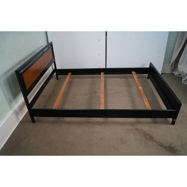 Tung Si Collection Ebonized Black & Teak Full Bed - Image 3 of 10