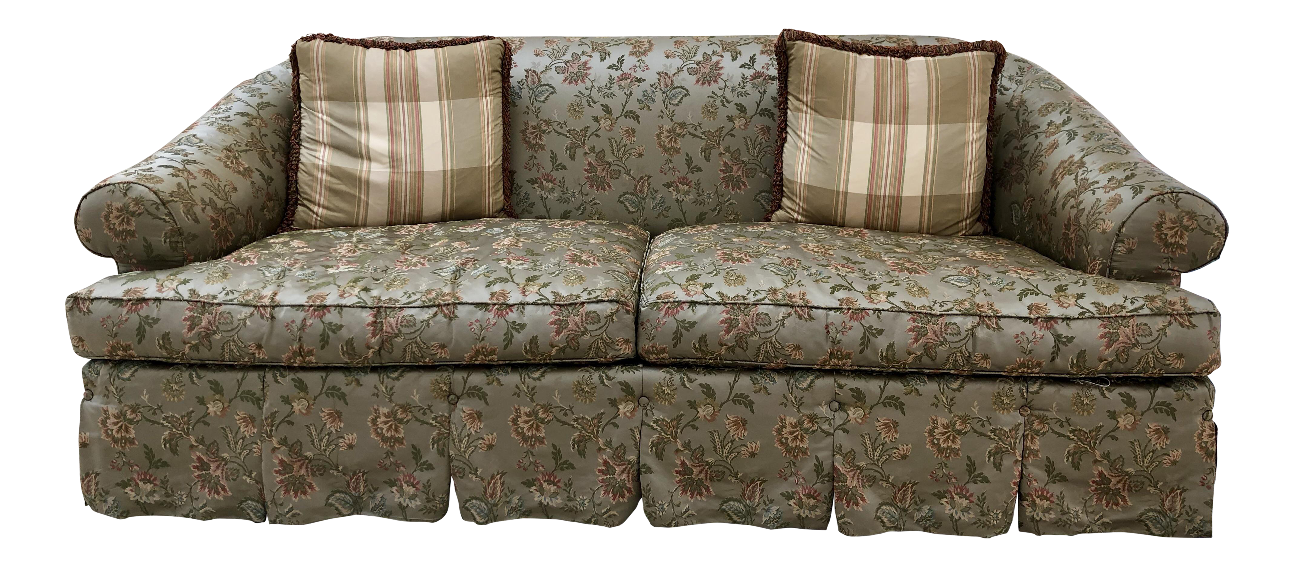 Incroyable Lillian August Silk Couch