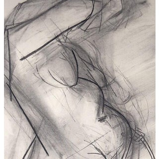 Contemporary Charcoal Nude Figure Drawing For Sale