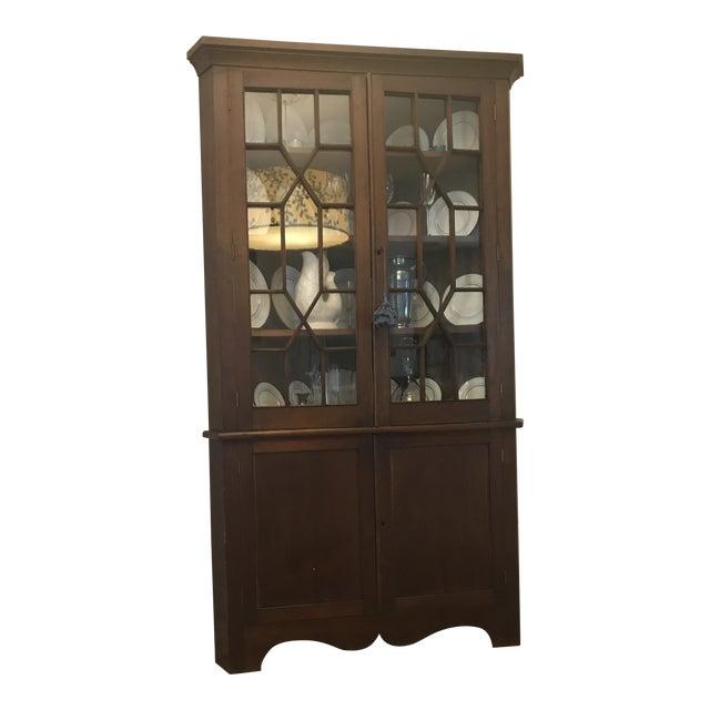 Antique Corner China Cupboard For Sale