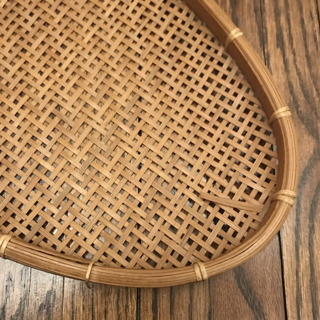 Darling woven oval tray