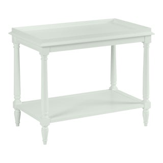 Casa Cosima Revere Side Table, Gray Cashmere For Sale