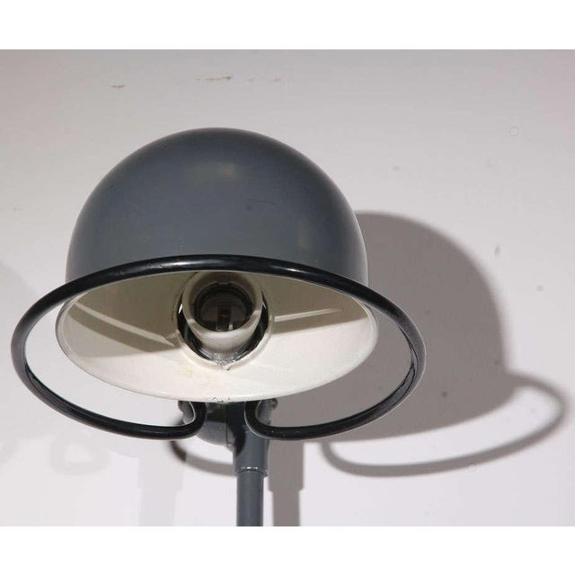 Gray Vintage Jielde Factory French Industrial Metal Lamp For Sale - Image 8 of 10