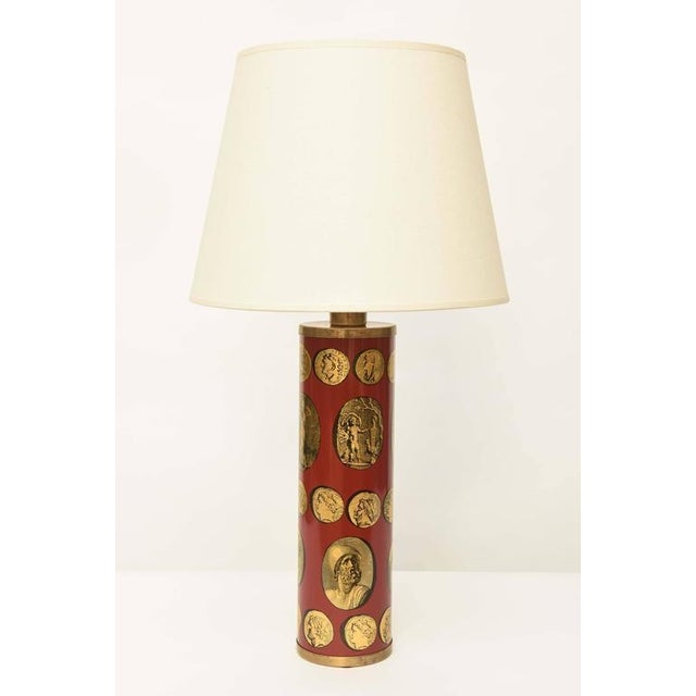 Original Piero Fornasetti Cameo Table Lamp. Made in Italy 1955. Wired for the U.S. and in perfect working condition. No...