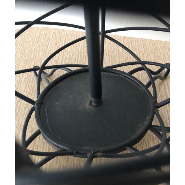 Mid-Century Modern 1950s Vintage Ferris Shacknove Black Wire Pineapple Lamp For Sale - Image 3 of 9