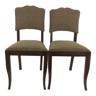 French Art Deco Chairs - A Pair For Sale