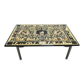 Florentine Scagliola Rectangular Table Top For Sale