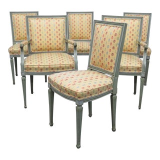 Jansen Style Dining Room Chairs - Set of 6