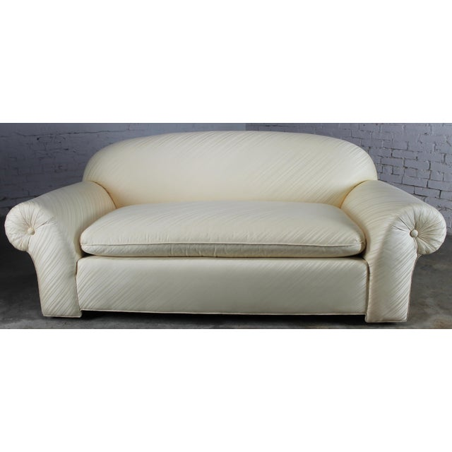 1976 Vintage White Donghia Sofa - Image 2 of 11