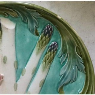 1880s Majolica Asparagus Plate Signed Keller Et Guerin Luneville Preview