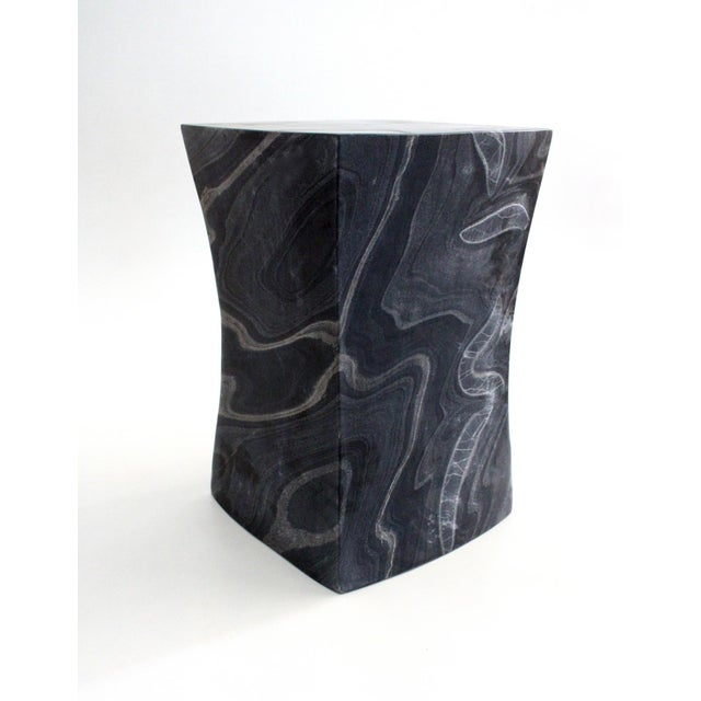 Not Yet Made - Made To Order Beslana Block Side Table - Black Marble For Sale - Image 5 of 9