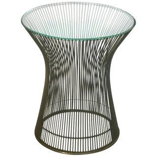 Period Warren Platner for Knoll Chrome and Glass Side Table, 1966 For Sale
