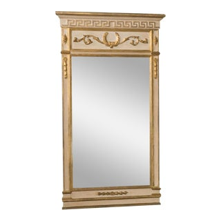 Antique Neoclassical Gilt Trumeau Mirror For Sale