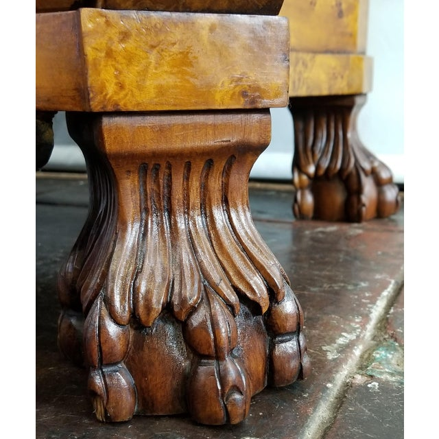 Chocolate Dutch Colonial Serpentine Bombe Bureau / Slant Drop Front Secretary Desk in Burr Walnut For Sale - Image 8 of 11