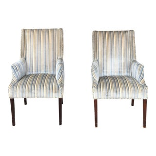 1980s Vintage Slipper Chairs- A Pair For Sale