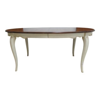 French Country Ethan Allen Dining Room Banquet Table For Sale