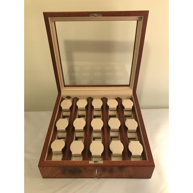Boho Chic Agresti Briar Wood Watch Case For Sale - Image 3 of 9