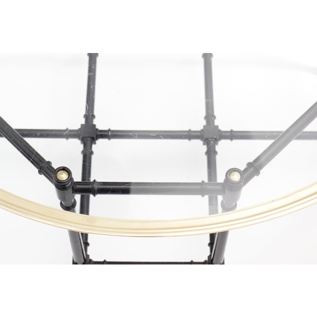Baker Brass & Glass Faux Bamboo Coffee Table - Image 5 of 8