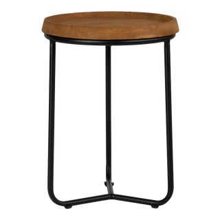 Sunset Round End Table - Brown For Sale
