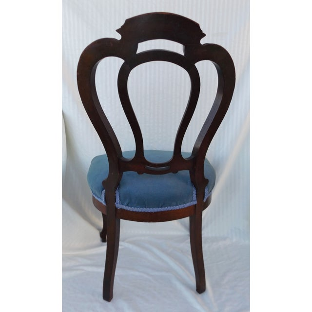 Victorian Ladies Parlor Accent Chair - Image 3 of 8