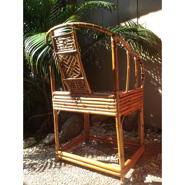 Antique Chinese Wooden Chair - Image 6 of 7