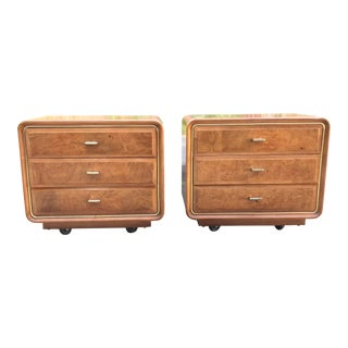 1970s Mid-Century Modern American of Martinsville Nightstands - a Pair For Sale