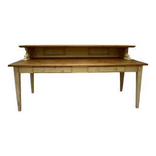 "Pine and Hardwood ""Partners'"" Writing Table For Sale"