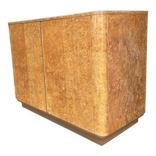 English Art Deco Burlwood Bedroom Cabinet For Sale