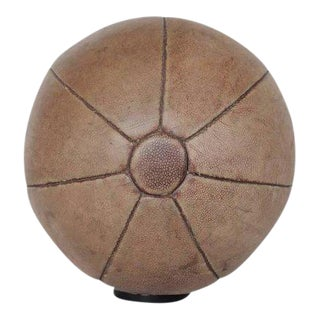 1930s French Leather Medicine Ball For Sale