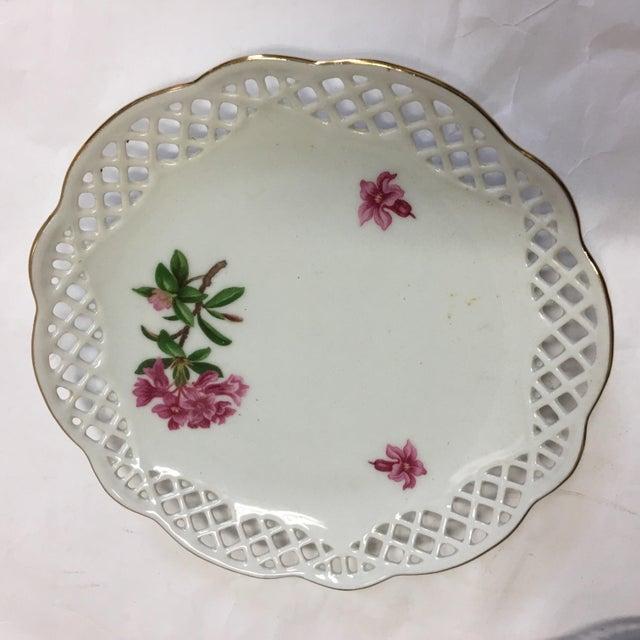 Ceramic Bavaria Schumann Porcelain Floral Plates - Set of 3 For Sale - Image 7 of 9