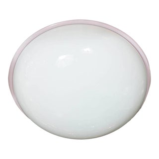 Mid-Century Modernist Handblown Murano Glass Flush Mount by Barbini For Sale