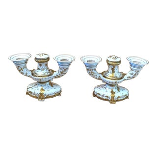 Vintage French Chinoiserie Candleholders - a Pair For Sale