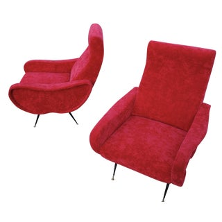 Marco Zanuso Style Lady Chairs - a Pair