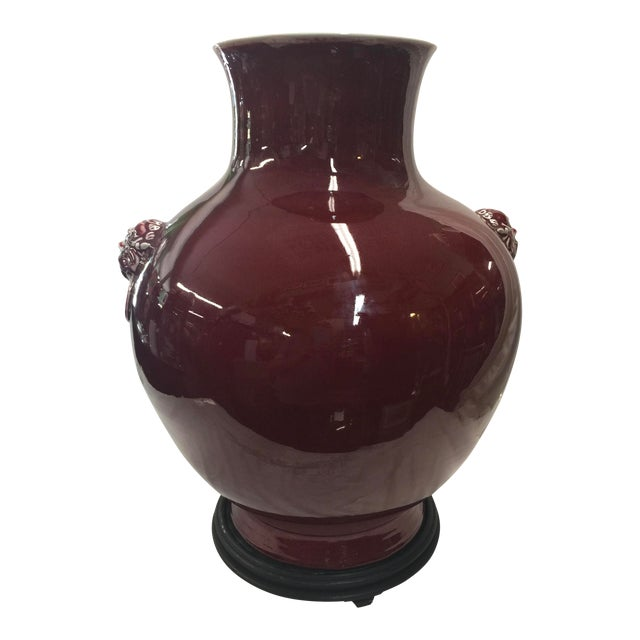 "Chinese Oxblood Vase 23"" For Sale"
