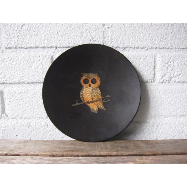 Gold Vintage Couroc of Monterey Owl Dish For Sale - Image 8 of 9